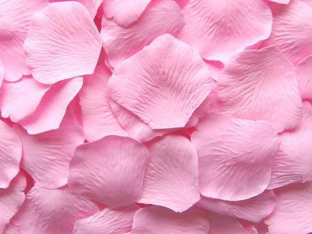 rose soie soie pétale de mariage faveurs parti pétales décoration chaude