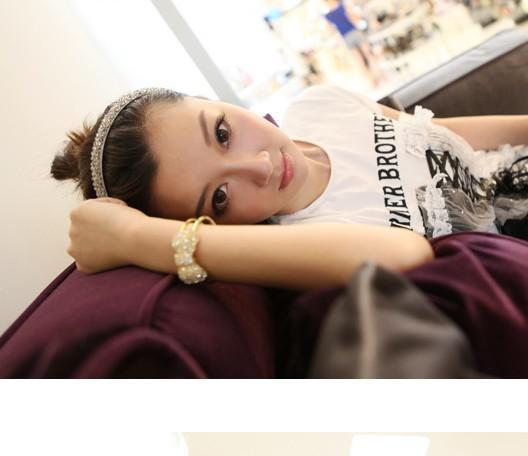 Accessoires femmes Bracelets de bijoux pour femmes avec perceuse Bowknot printemps contracté