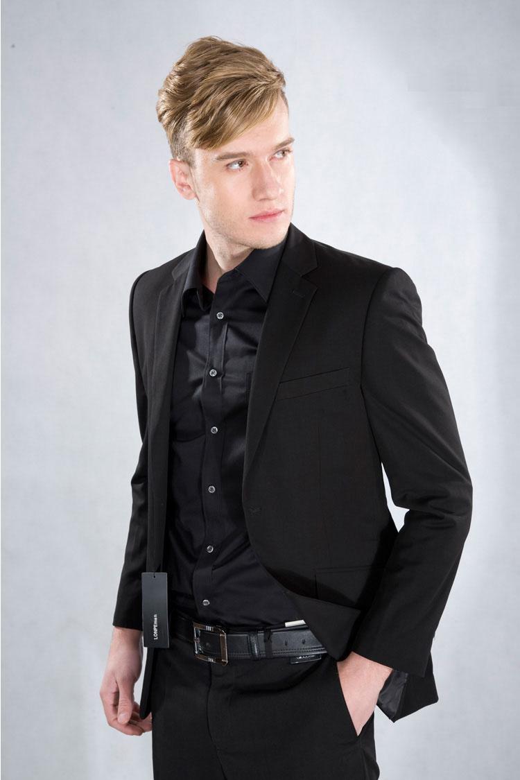 Custom Made New Black Mens Formal Wear Tuxedos Suits Men In Formal ...
