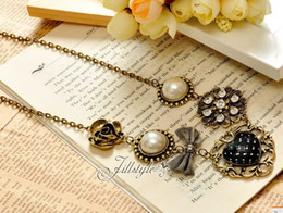 Women's Accessories Women's Jewelry Necklaces Pendants Peach Heart Bowknot Pearl