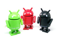 Wholesale Google Android Robot Toy - Winding head hands swing robot Google doll Google android doll chain Wind-up Toys Amusement