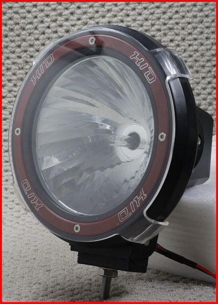 "PAIR 7"" 35/55W HID XENON DRIVING LIGHT OFF-ROAD SUV ATV 4X4 4WD UNIQUE HELICAL GLASS SPOTLIGHT 12V"