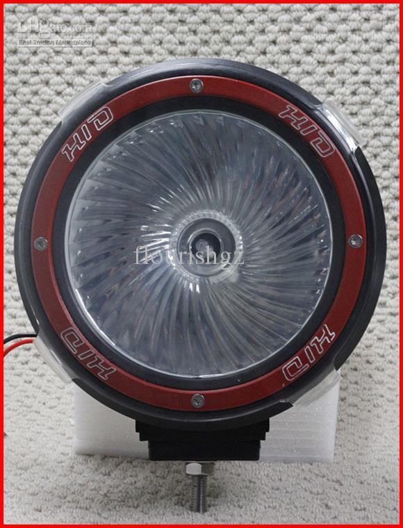 """7"""" 35/55W HID XENON DRIVING LIGHT OFF-ROAD SUV ATV 4X4 4WD UNIQUE HELICAL GLASS SPOTLIGHT 12V"""