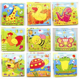 best selling Wooden toys, children's toys intelligence puzzles jigsaw puzzles cartoon animal puzzle