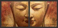 lienzo asiático arte de la pared al por mayor-Al por mayor-Oil Wall Art, pintado a mano, Wall Canvas Art, Modern Abstract Asian Buddha Canvas Canvas Oil: BU # 017