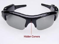 Wholesale Dv Dvr Sun Glasses Camera - DV DVR Hidden Recorder Video Camera spy Sunglasses Camera sun glasses camera Mobile Eyewear