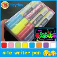 Wholesale High Lighter Pens - Durable painting marking pen 8colors bar fluorescent high lighter nite writer marker pen stationery