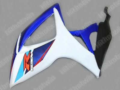 Custom Fairing kit for GSXR600 GSXR750 K6 2006 2007 GSXR 600 GSX-R600 R750 06 07 Blue whtie