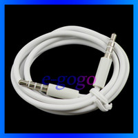 Wholesale Iphone 3g Audio Cable - 3.5mm to 3.5mm White Audio Extension Cable for Mp3 Mobile Phone iPhone 3GS 3G 4G