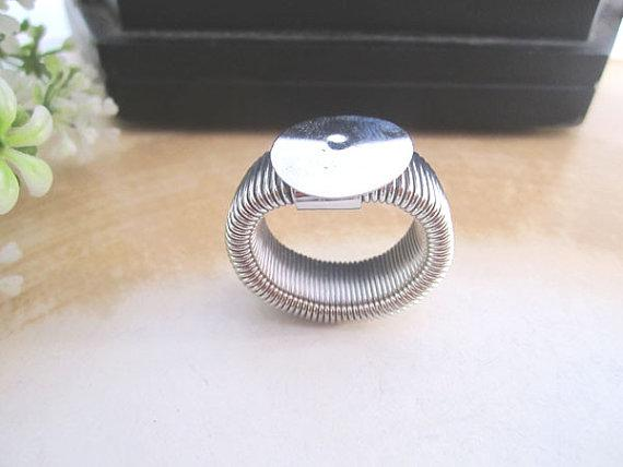 Hot Koop Intrekbare Ring Blanks Sieraden Ringen Pad 12mm, Silver and Bronze Kleur 50 stuks / partij