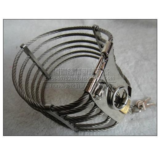 Großverkauf - HEISS! Stahldraht Sklavenkragen Cleopatra Kragen Ann Posture Collar mit Messingschloss Gelenke