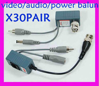 Wholesale Wholesale Audio Video Balun - Factory sale !!CCTV Pair BNC Male UTP RJ45 Cat5 Passive Video audio power Balun M-301