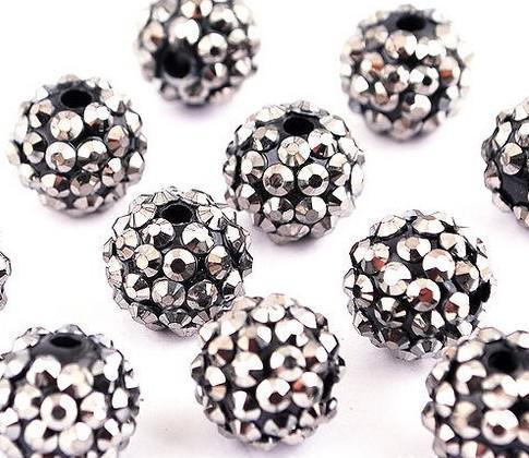 10 MM 12 MM 14 MM 16 MM Esposas de Basquete Brincos DIY Resina Spacer Beads 1200 PCS