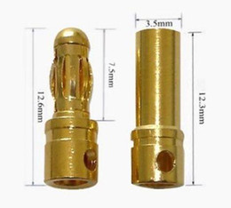$enCountryForm.capitalKeyWord Canada - new arrival Gold Plated 3.5mm Bullet banana Connector ( banana plug ) For ESC battery