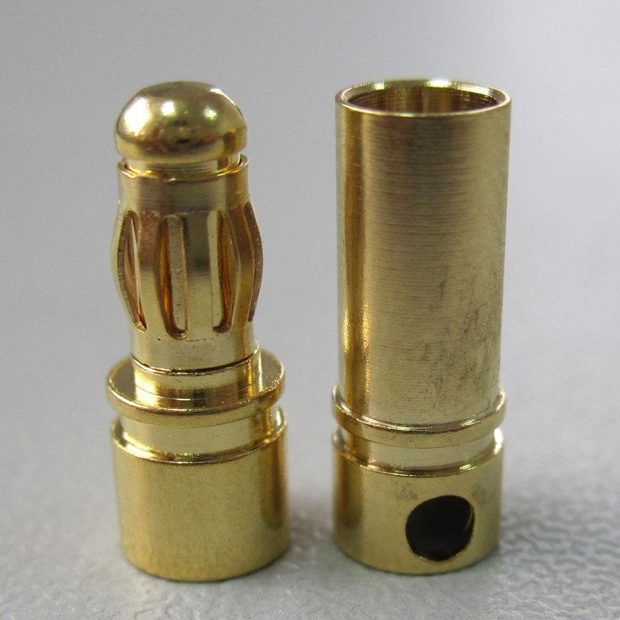 new arrival Gold Plated 3.5mm Bullet banana Connector  banana plug  For ESC battery