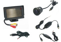 Wholesale quot Car TFT LCD Monitor Wireless Reverse Car Rear View Backup Camera Kit