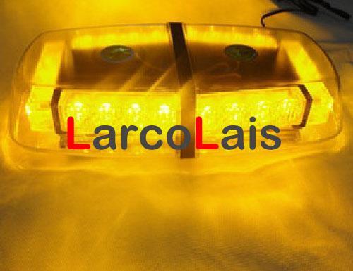 24 светодиодных автомобилей Авто крыши вспышки строб магниты EMS аварийного света мигающие огни 24LED Янтарный