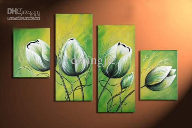 Hand Painted Wall Art shop paintings online, hand painted wall art spring pale green