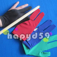 Wholesale Snooker Cue Wholesalers - elasticity snooker pool billiards cue gloves billiards three finger glove 8 balls 9balls gloves