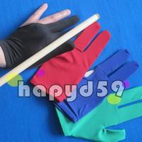 Wholesale Pool Balls Cues - elasticity snooker pool billiards cue gloves billiards three finger glove 8 balls 9balls gloves