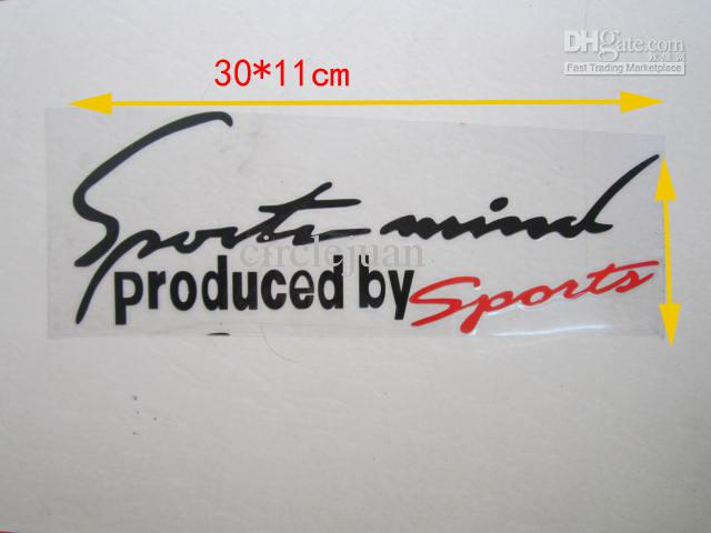 Vinyl Car Stickers and Decals Car Racing Graphics Sticker Decal Produced by Sports