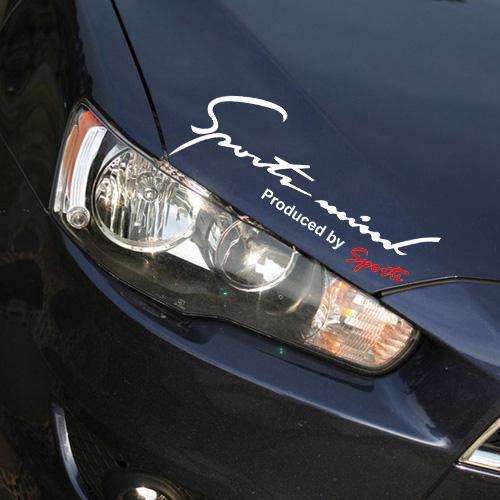 50 ADET / GRUP Vinil Araba Etiketler ve Çıkartmaları Araba Yarış Grafik Sticker Çıkartması Spor tarafından Üretilen