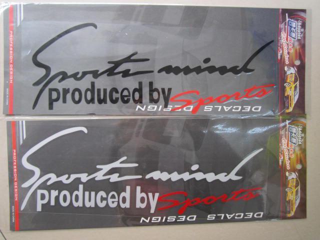 50 stks / partij Vinyl Auto Stickers en Decals Auto Racing Graphics Sticker Decal geproduceerd door sport