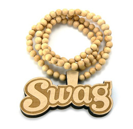 $enCountryForm.capitalKeyWord Canada - High quality GOOD WOOD NYC NECKLACE WOODEN CHARM PENDANT BALL BEADS CHAIN SWAG PIECE SELECT COLOR