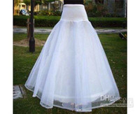 Wholesale Layered Petticoats - Custom Made 2018 Hot Sale Two Layered One Hoop Bridal Petticoat Crinoline for Wedding Dresses Accessories CQ11