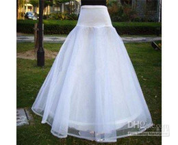 Wholesale Hoop Dresses For Sale - Custom Made 2018 Hot Sale Two Layered One Hoop Bridal Petticoat Crinoline for Wedding Dresses Accessories CQ11