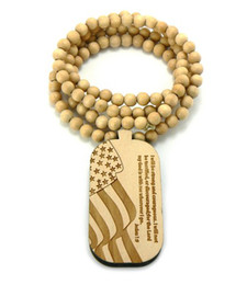 "wooden rosary pendant NZ - Good Quality Wood Bible Pendant good wood nyc with 15"" Wooden Rosary Beads Chain Necklace NEW"