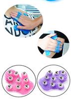 Wholesale Massager Metal Balls - Free shipping, metal roll ball beauty massager  body care massage glove #2722