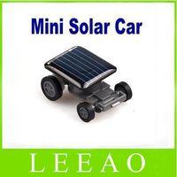 Wholesale Solar Toy Racing Car - 100pcs lot # Mini Smallest Solar Powered Robet Racing Car Moving Drive Car Fun Gadget Toy For Kids