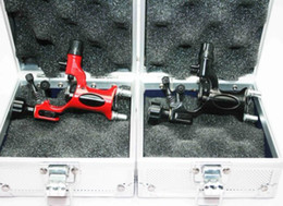 Wholesale Dragonfly Tattoo Machine Kits - 2 Dragonfly Tattoo Rotary Machine Guns & 2 Aluminum Gun Boxes With Sponge Kits Supply
