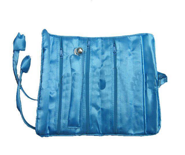 Sacchetto dei monili di viaggio Roll Up Storage Bag collana Bracciale Set di orecchini Pochette Sacchetto di pochette di seta le donne