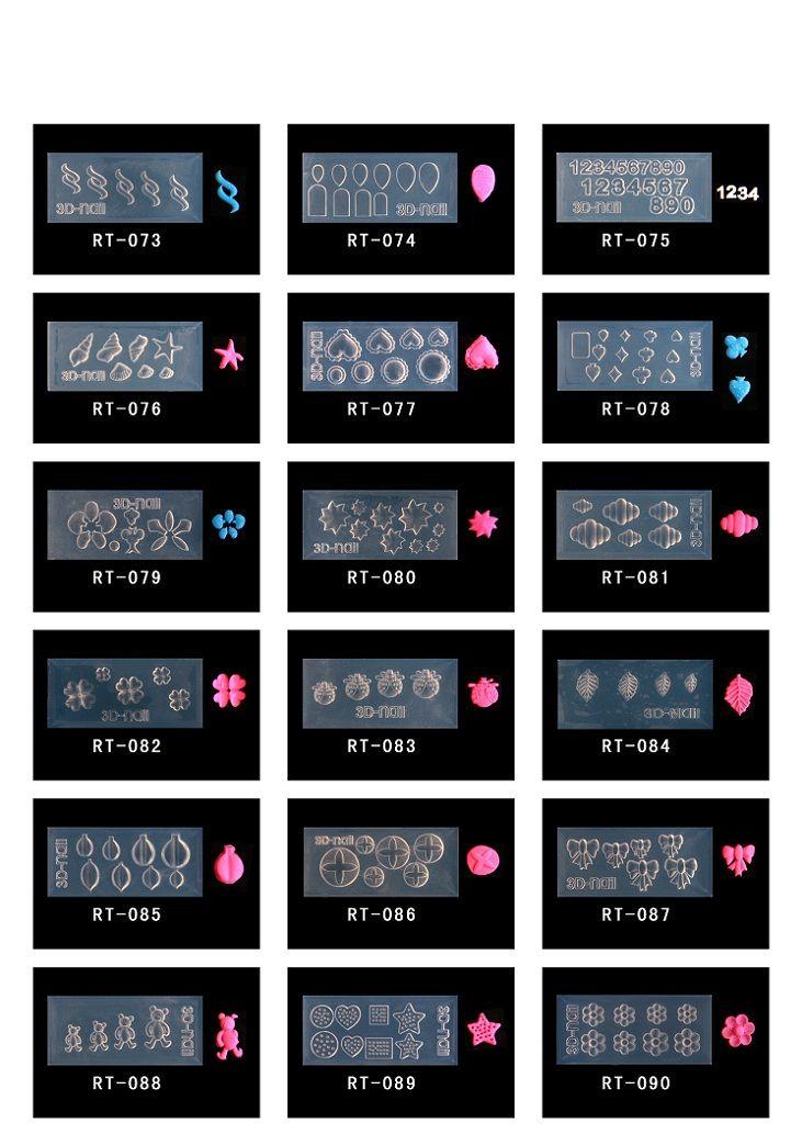 Nuovo arrivo Stampo in silicone unghie Stampo decorazioni fai-da-te unghie 3D unghie
