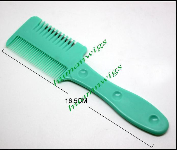 200 pçs / lote, misture a cor, pente de cabelo navalha, cortador de cabelo tilintar - Razor pente cabelo Trimmer