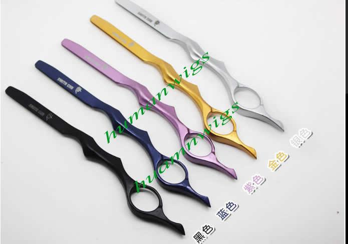 Professionell barberare sax, frisör rakhyvel, hårskärande rakhyvlar, hår styling rakhyvel, 20st, 5 färg blandad