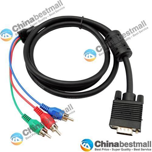 Großhandel Hohe Qualität 1.5m Computer 15 Pin Vga Zu Rgb 3 Rca Tv ...