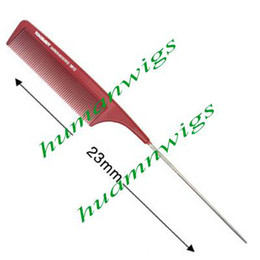 Профессиональные парикмахерские тонкой зубчатый металлический штырь хвост-волосы секционирования гребень / наращивание волос гребень от Поставщики fine bone