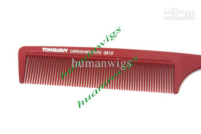 PROFESSIONAL HAIRDRESSING Fine Toothed Metal Pin Tail - Hair Sectioning Comb / Hair Extensions Comb