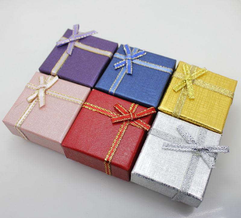 Esposizione all'ingrosso poco costosa del contenitore di regalo dei monili di modo di 24 PCS