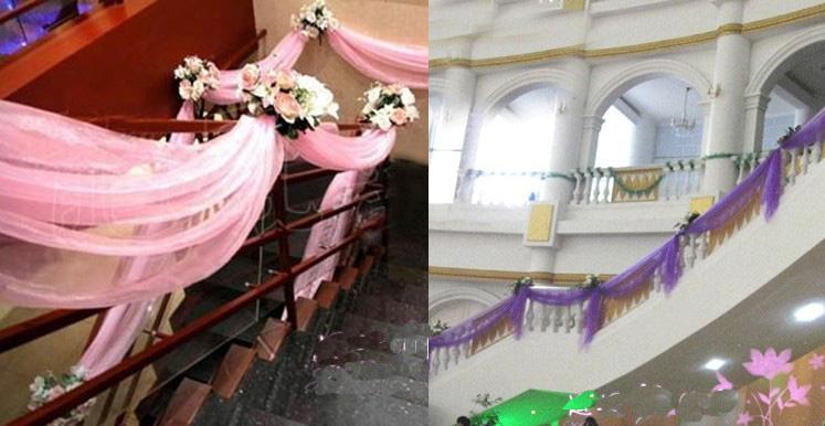 decorate barn for wedding organza for background of wedding or decoration 110 meters roll