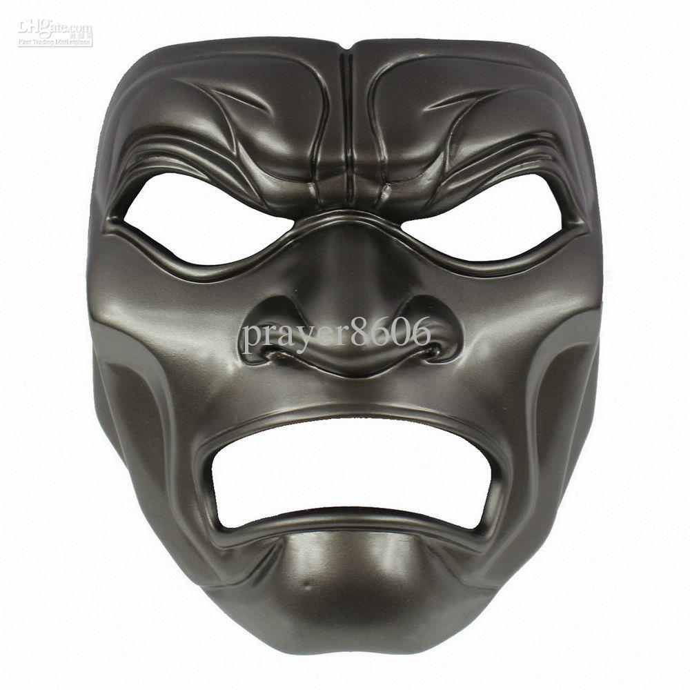 Black The 300 Spartans Warrior Undead Mask Halloween Masquerade ...