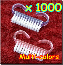 Wholesale Nail Brush Clean - 1000pcs New Nail Art Cleaning Clean Soft Tool Remove Dust Angle Nail brush Care Manicure Pedicure