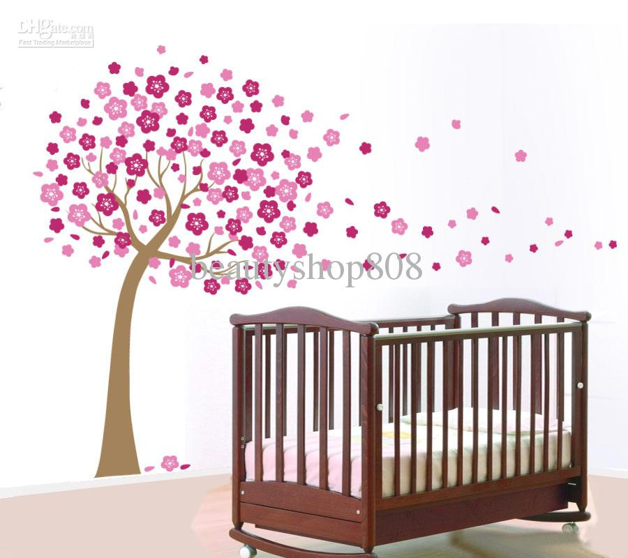 pvc baby bed jm7074 wall art mural flowers pvc wall papers stickers removable
