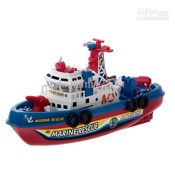 Wonderful Mini Plastic Electric Ship Fire Boat Toy For