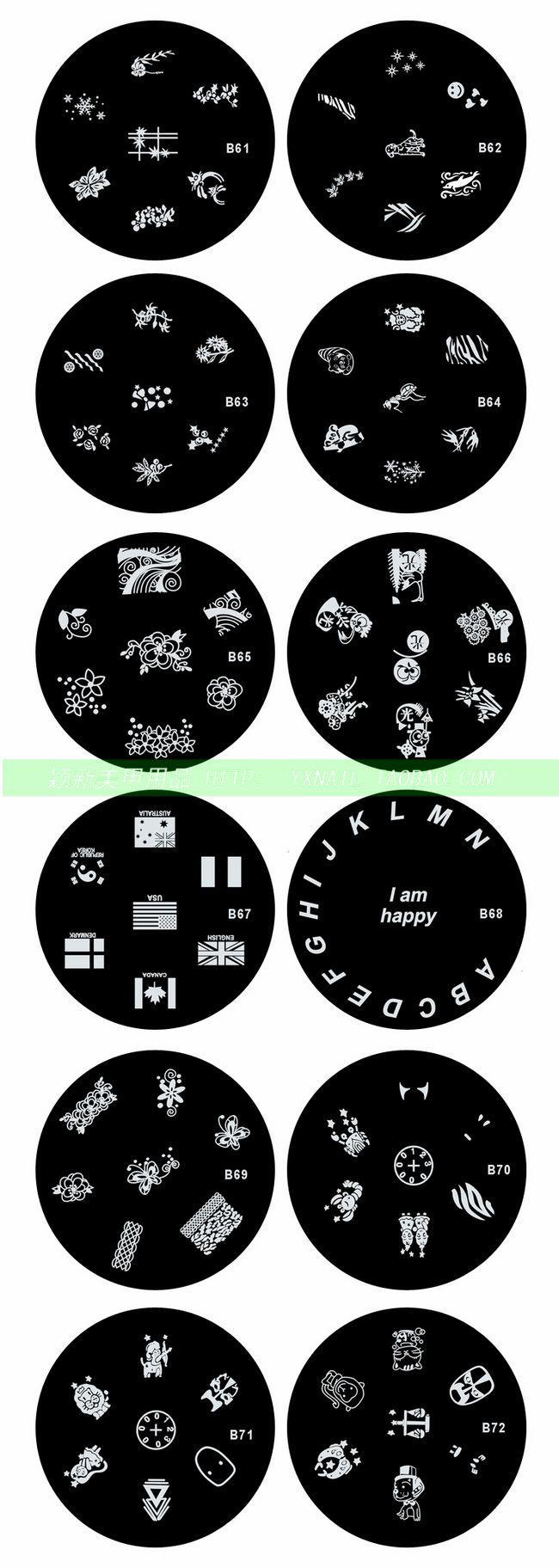 120 Designs Nail Art Stamping Stamp Metalen Plaat Roestvrijstalen Beeld Afdrukken Design Plate