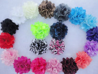 "Wholesale Wholesale Tulle Satin Mesh Flower - 2"" Mini Petite Satin Mesh Silk Flowers Charlotte Tulle Puff Flower Heads Hair Accessories Photography Props 360pcs lot QueenBaby"