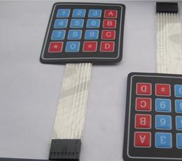 10 unids 4x4 16 Key Matrix Membrane Switch Keypad Teclado Super Slim NUEVO en venta